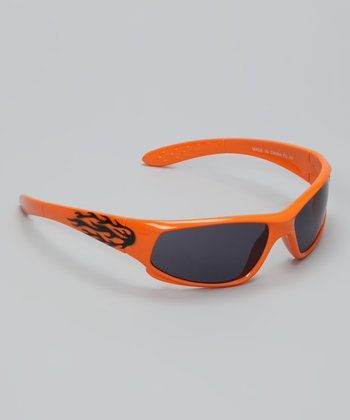 Orange Flame Aero Sunglasses