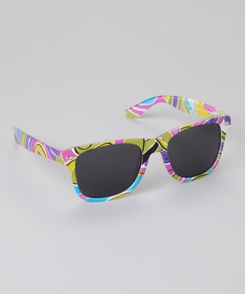 Pink & Green Graphic Sunglasses