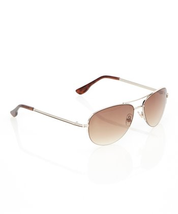 Gold Icon Pilot Sunglasses