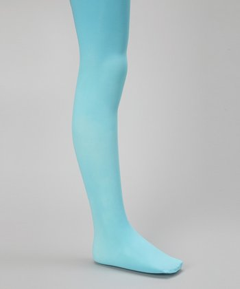 Robin's Egg Microfiber Tights - Girls