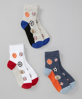 Sports Field Socks Set - Toddler & Boys