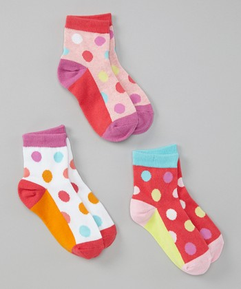 Tropical Dots Socks Set - Girls