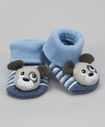 Blue Puppy Booties