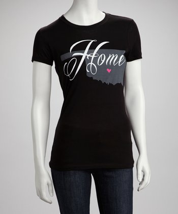 Black Oklahoma 'Home' Graphic Tee