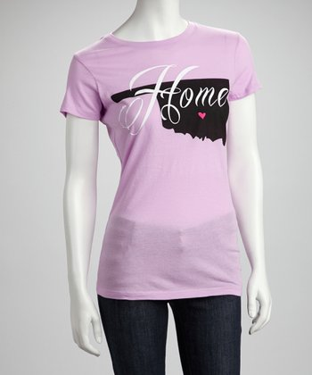 Lavender Oklahoma 'Home' Graphic Tee