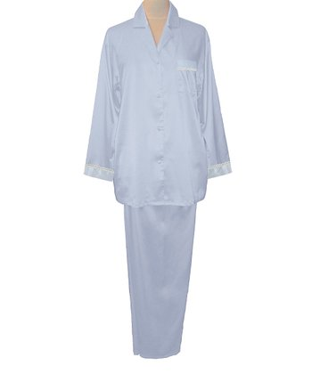 Periwinkle Embroidered Pajamas - Women