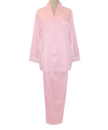 Pink Embroidered Pajamas - Women
