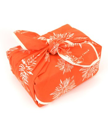 Orange Give Cheer Organic Reusable Gift Wrap