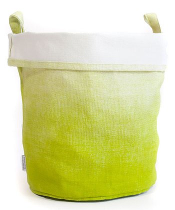 Green Dip-Dye Canvas Bucket