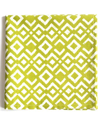 Chartreuse Ikat Napkin - Set of Four
