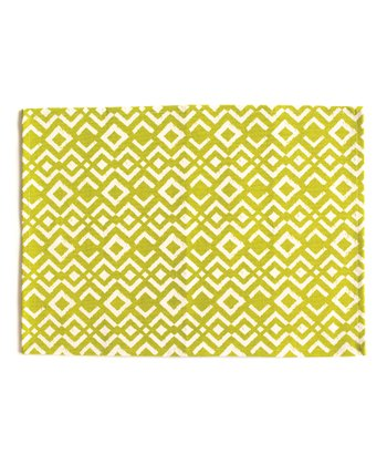 Chartreuse Ikat Place Mat - Set of Four