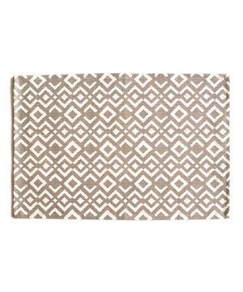 Gray Ikat Place Mat - Set of Four