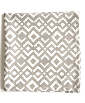 Gray Ikat Napkin - Set of Four
