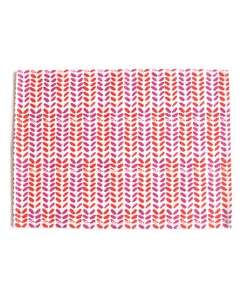 Fuchsia & Cherry Leaves Place Mat - Set of Four