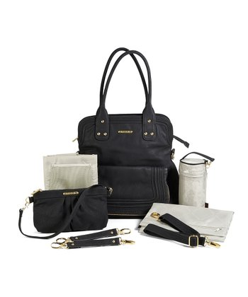 Velvet Black Hayley Diaper Bag