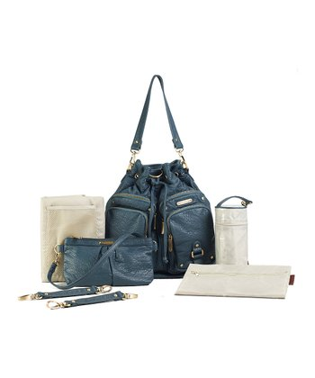 Ocean Blue Hart Diaper Bag