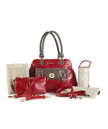 Red Taupe Sophia Diaper Bag