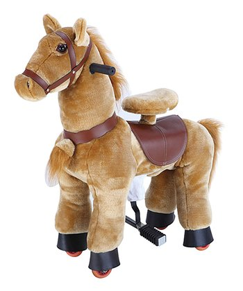 Light Brown 28'' Pony Ride-On