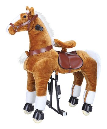 Light Brown 36'' Pony Ride-On