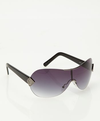 Gunmetal & Black Shield Sunglasses