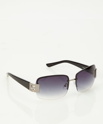 Light Gunmetal Marquise Sunglasses