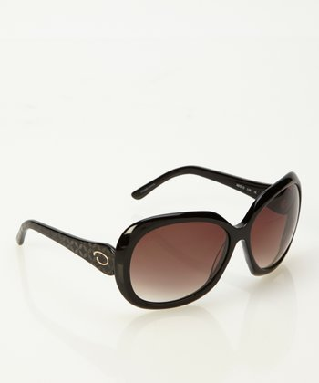 Black Flare Marquise Sunglasses
