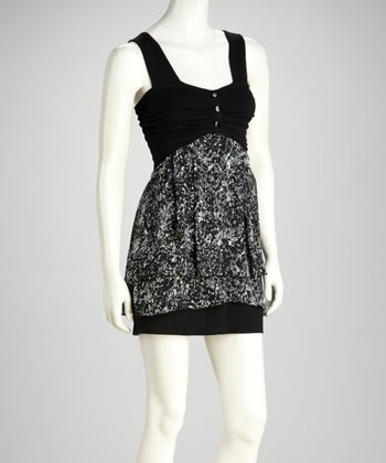 Black Ruched Sweetheart Dress