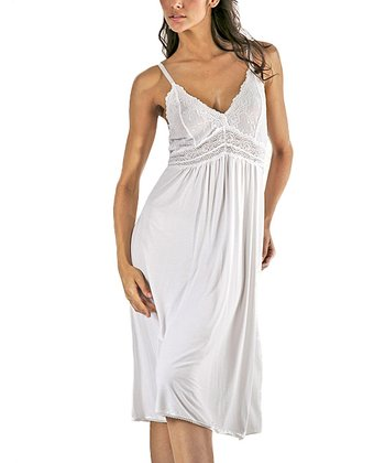 White Lace Nightgown - Women & Plus