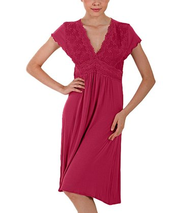 Berry Short-Sleeve Nightgown - Women & Plus
