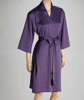 Purple Short Robe - Women