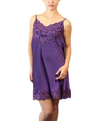 Purple Lace Chemise - Women