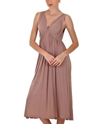 Mushroom V-Neck Nightgown - Women & Plus