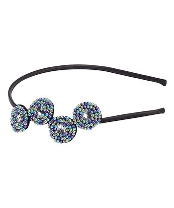 Blue Beaded Headband