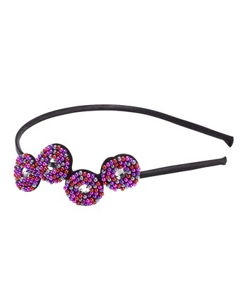 Purple Beaded Headband