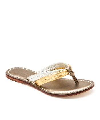 Metallic Combo Leather Miami Thong Sandal