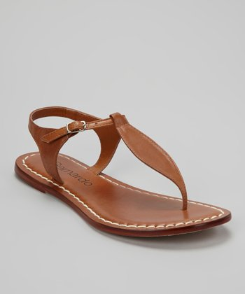 Pecan Leather Mistral Sandal