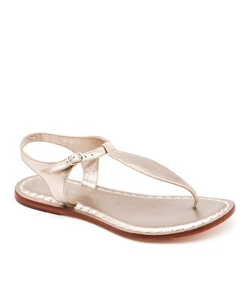 Platinum Metallic Leather Mistral Sandal
