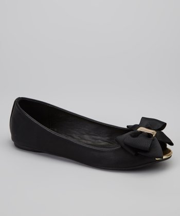 Black Dolly Ballet Flat