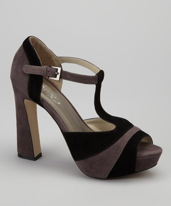 Black Ellen Peep-Toe Pump