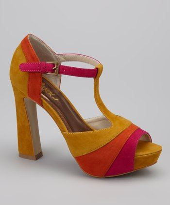Yellow Ellen Peep-Toe Pump