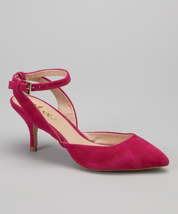 Fuchsia Nicki Kitten Heel