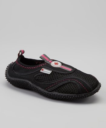Black & Pink Slip-On Water Shoe