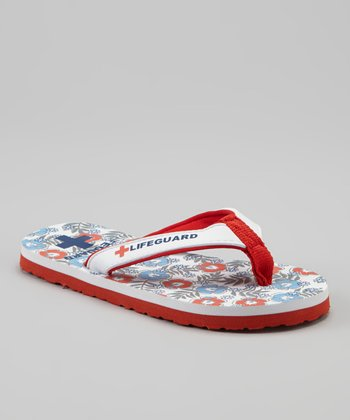 Red Hawaiian Flip-Flop