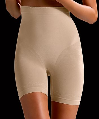 Nude Gold Shaper High-Waisted Shorts - Women & Plus