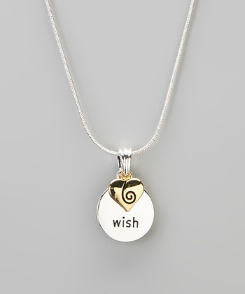Silver 'Wish' Pendant Necklace