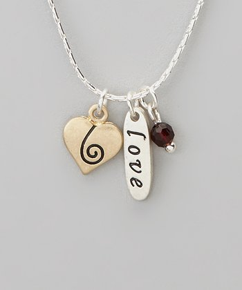 Silver 'Love' Charm Necklace