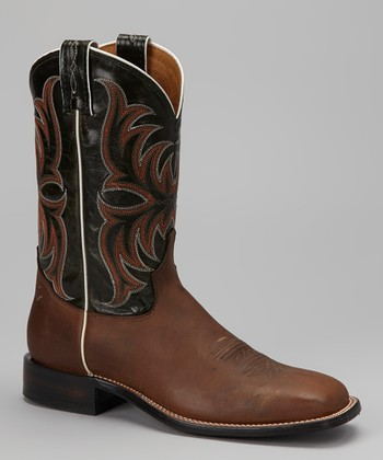 Tan Crazy Horse Cowboy Boot - Men