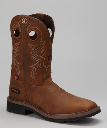 Tan Cheyenne Composition Toe Cowboy Boot - Men