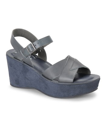 Jacket Leather Ava Wedge Sandal