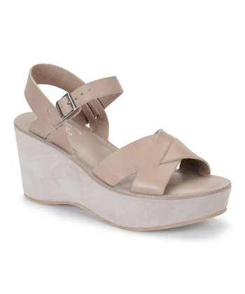 Putty Leather Ava Wedge Sandal